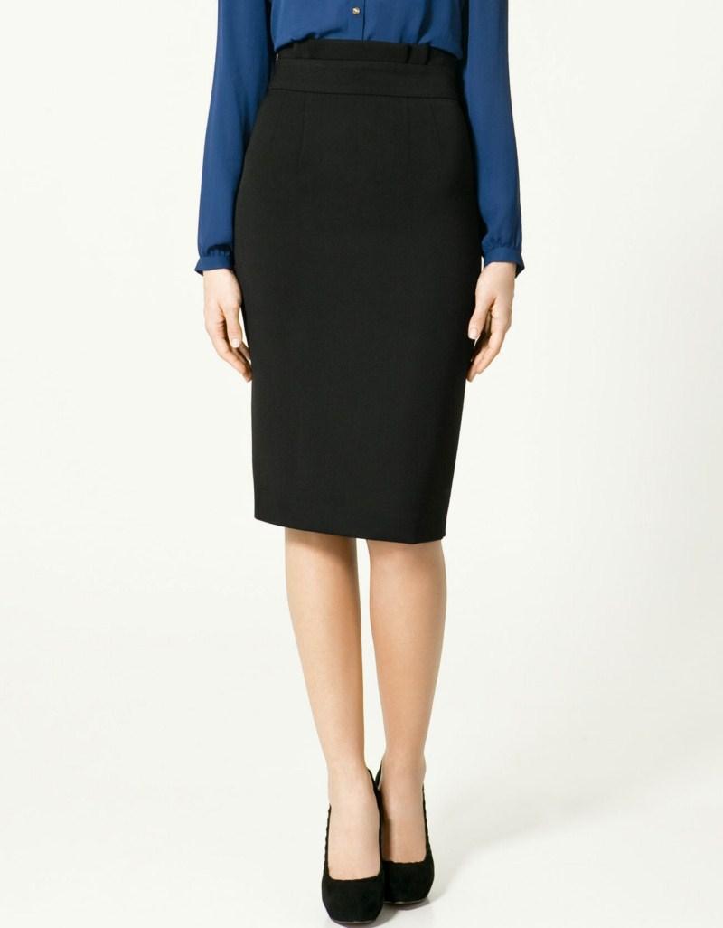 czarna spódnica ZARA ołówkowa - trendy wiosna-lato