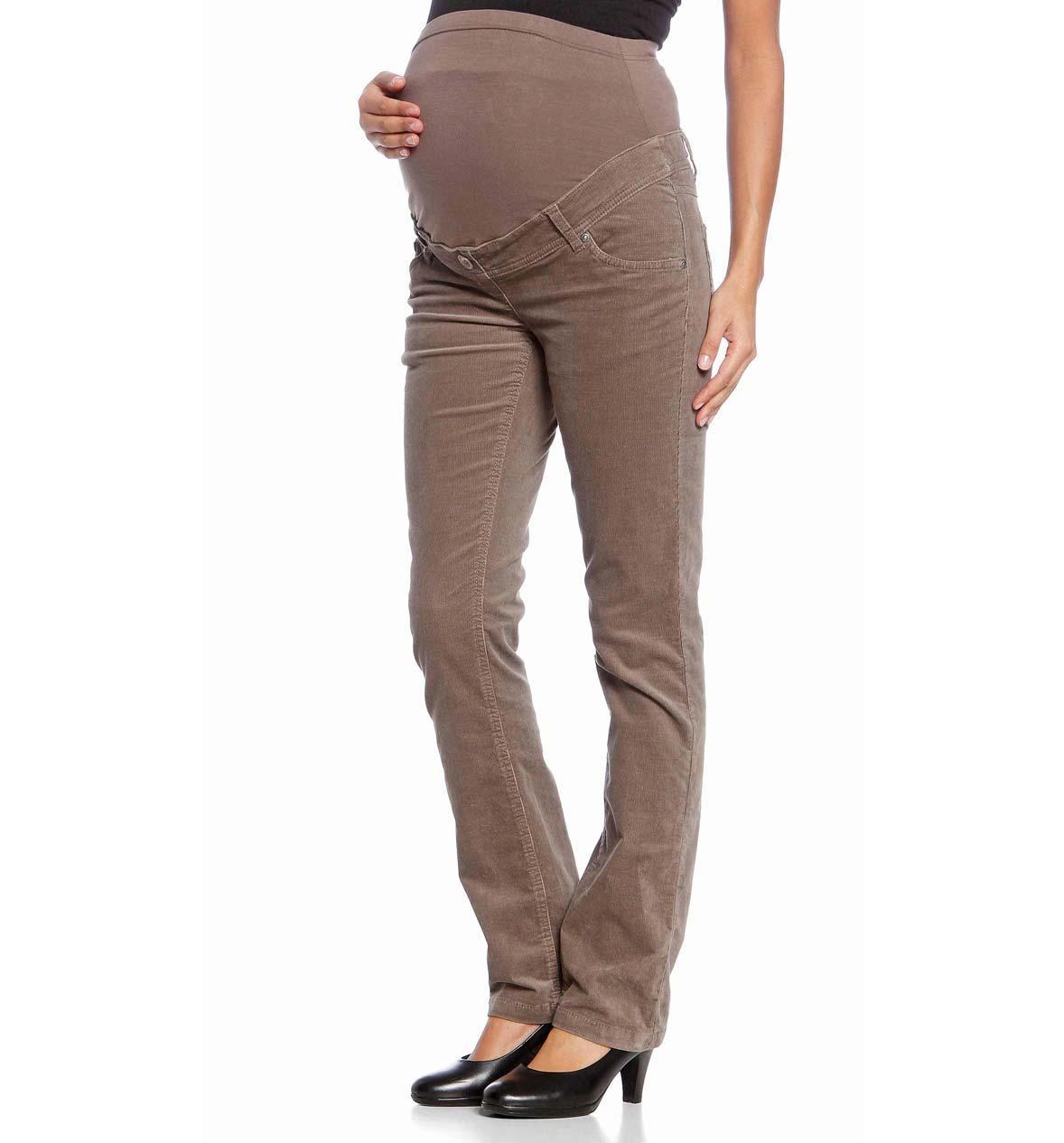 beżowe spodnie C&A ciążowe - 2012