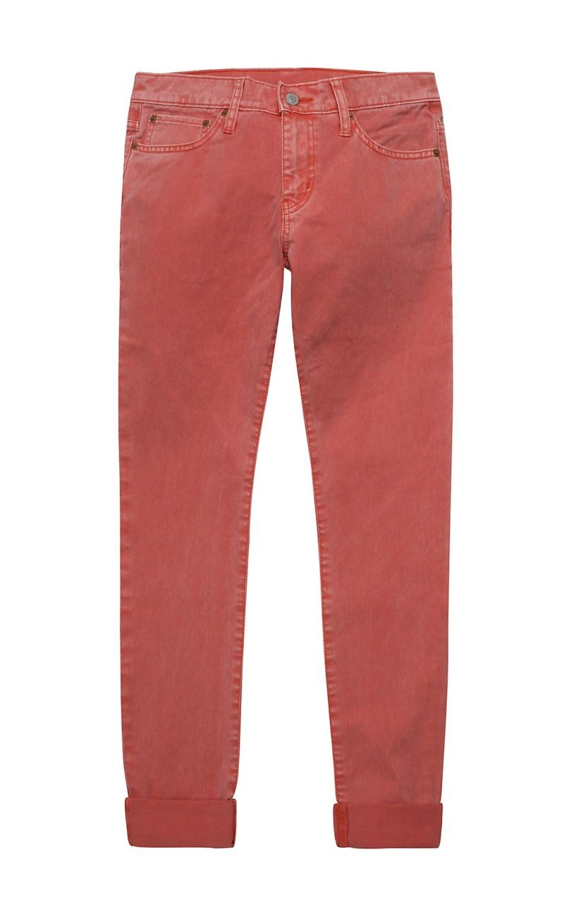 czerwone spodnie Levis - z kolekcji wiosna-lato 2011