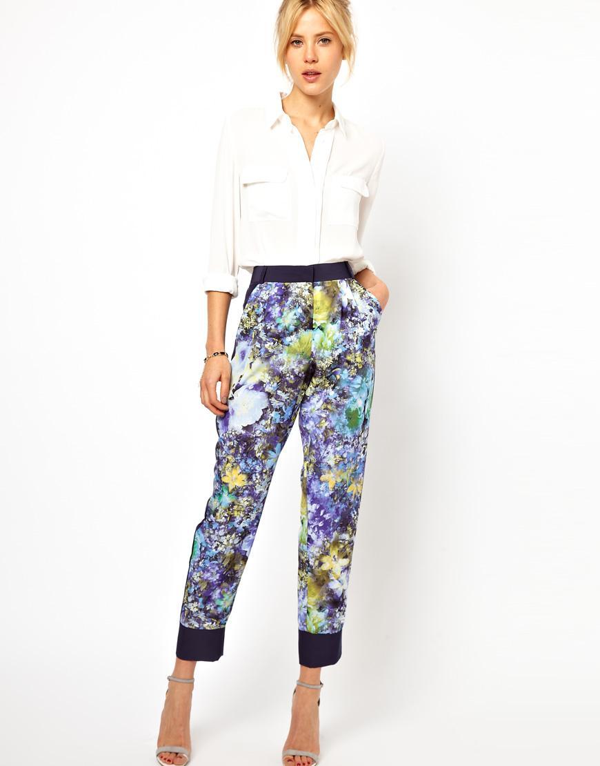 spodnie Asos w kwiaty  - trendy na wiosnę