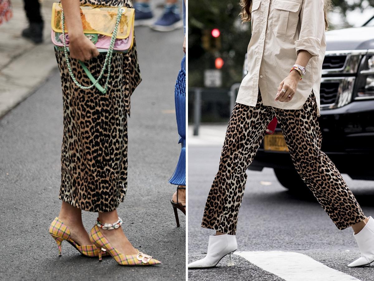 spodnie i spódnice w panterkę