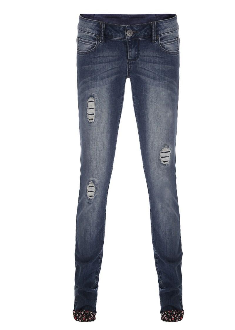 niebieskie spodnie Tally Weijl dżinsowe - wiosna-lato 2011