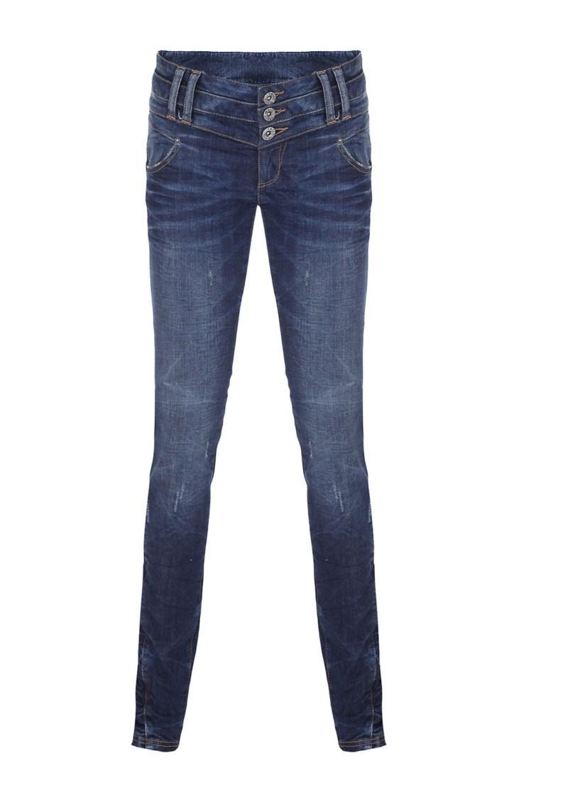 niebieskie spodnie Tally Weijl dżinsowe - moda 2011