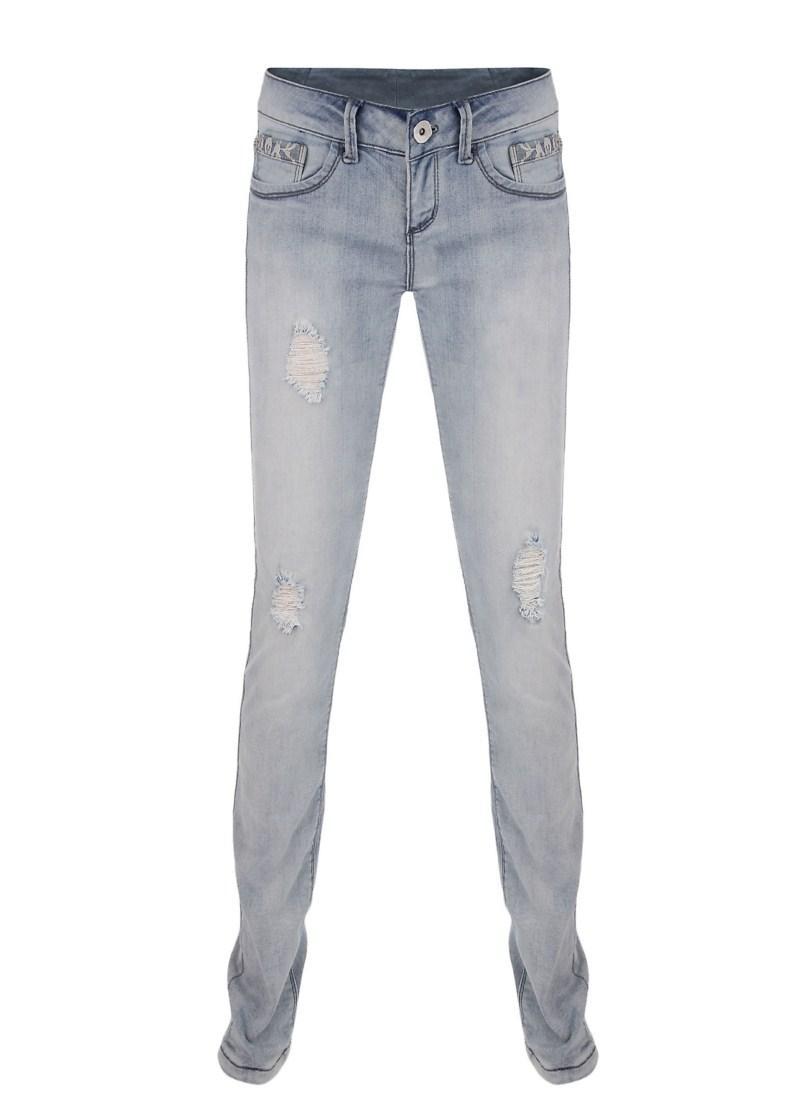 błękitne spodnie Tally Weijl dżinsowe - wiosna/lato 2011