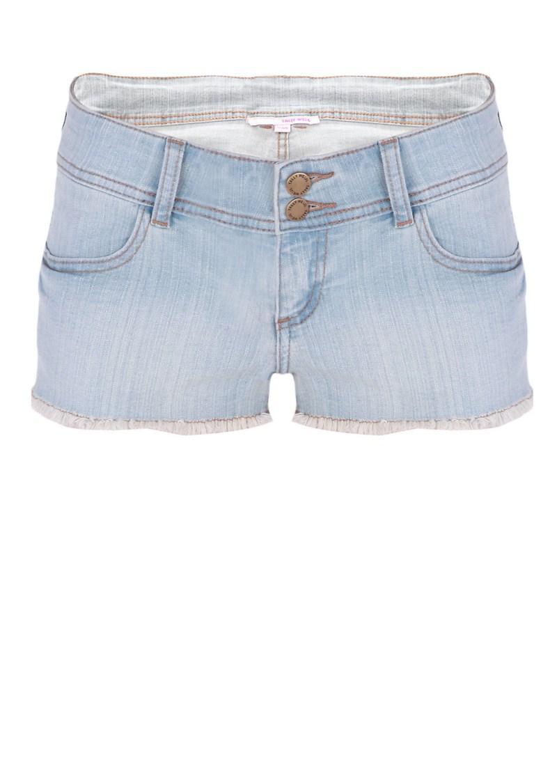 błękitne szorty Tally Weijl dżinsowe - lato 2011