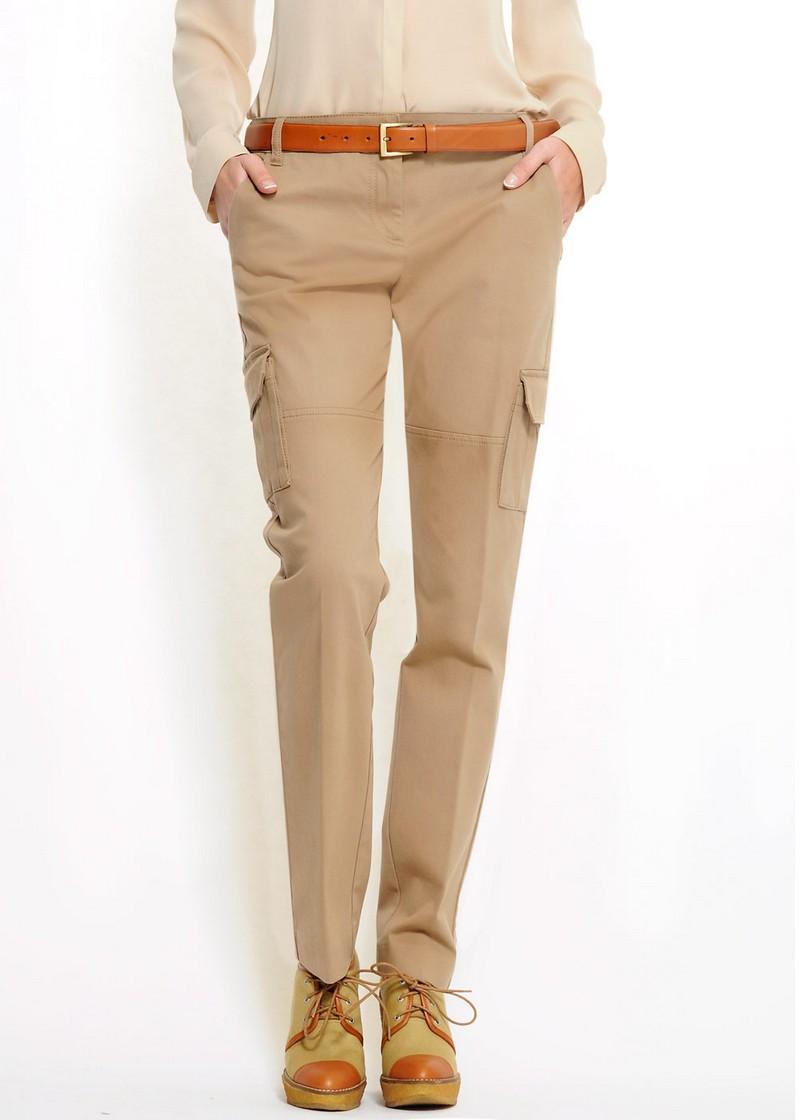 beżowe spodnie Mango z kieszeniami - moda wiosna/lato