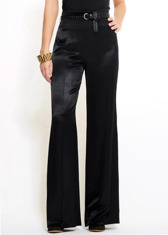 czarne spodnie Mango dzwone - moda 2011