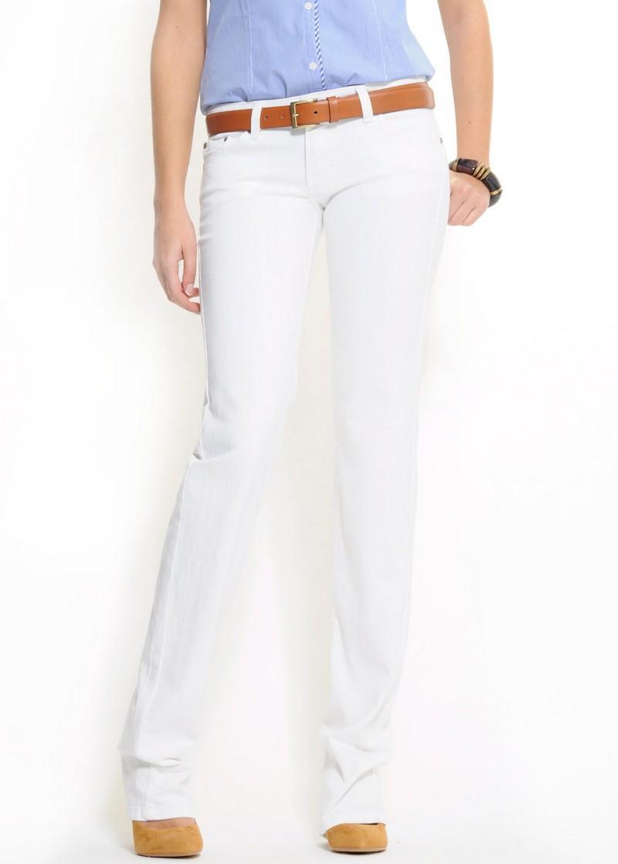 białe spodnie Mango - moda 2011