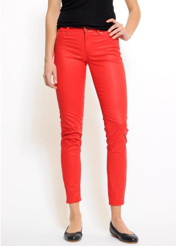 czerwone spodnie Mango rurki - kolekcja wiosenno/letnia