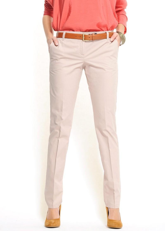 ecru spodnie Mango - wiosna-lato 2011