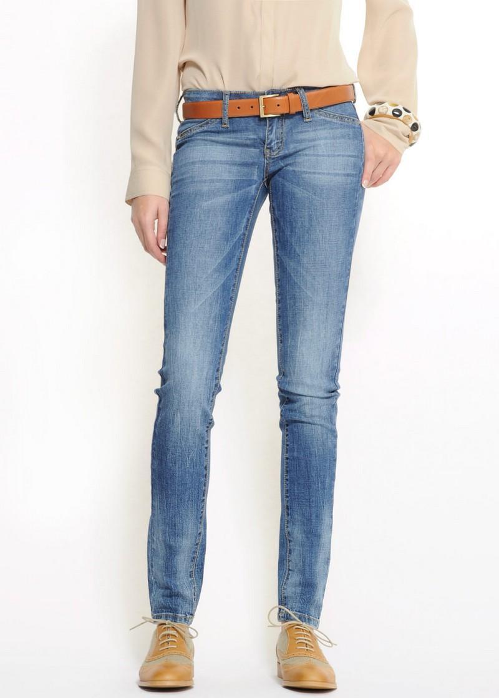 niebieskie dżinsy Mango - wiosenna kolekcja