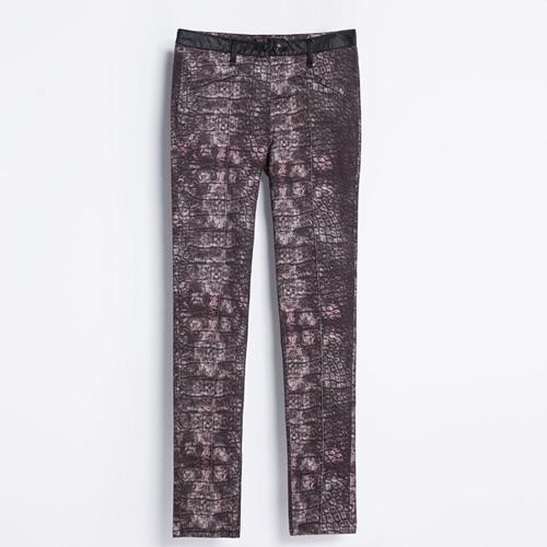 Spodnie w wężowy wzór, Zara
