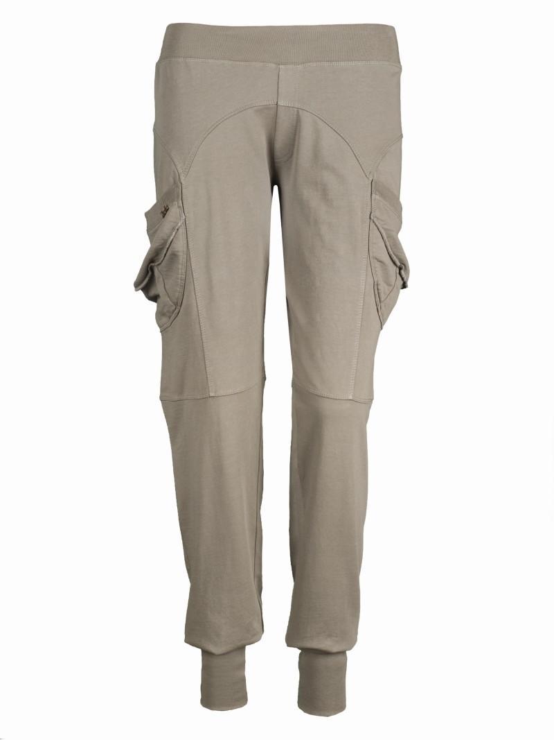 beżowe spodnie Troll z kieszeniami - kolekcja wiosenno/letnia