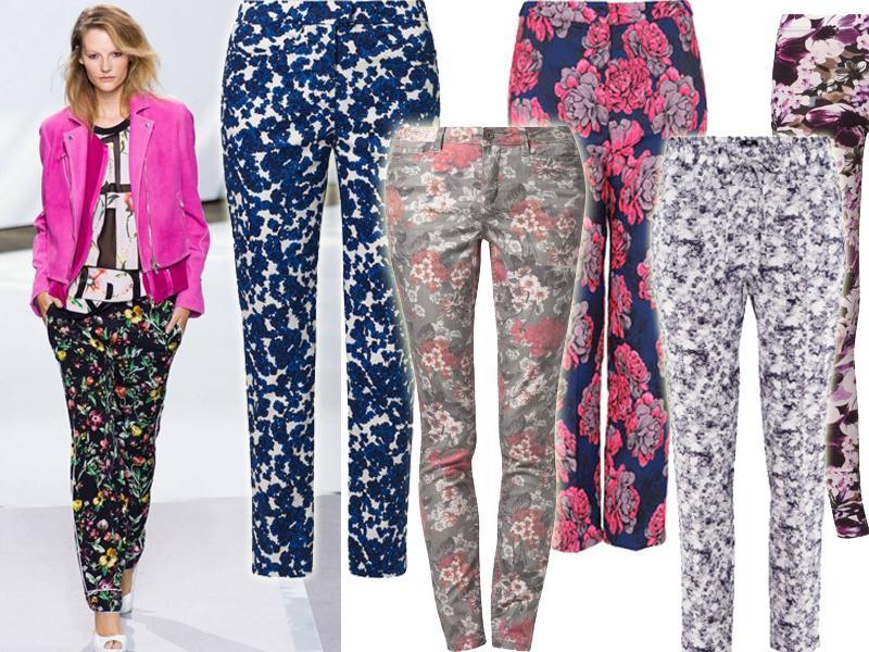 Spodnie w kwiaty na wiosnę 2013