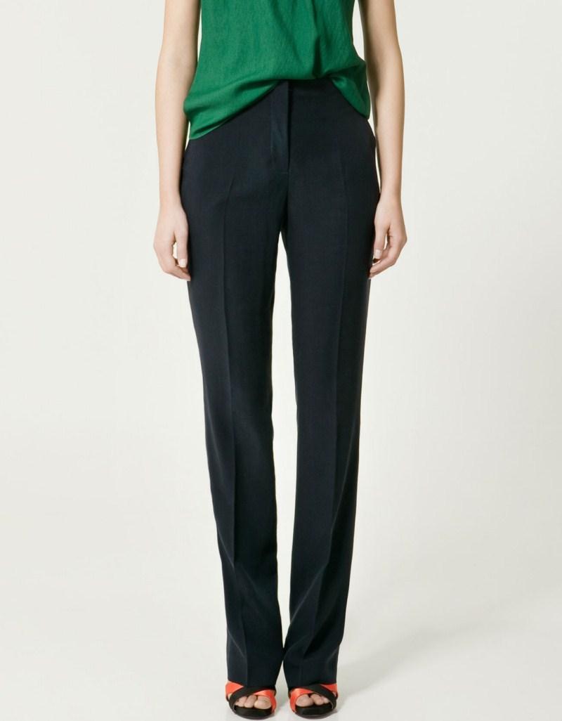 czarne spodnie ZARA - moda 2011