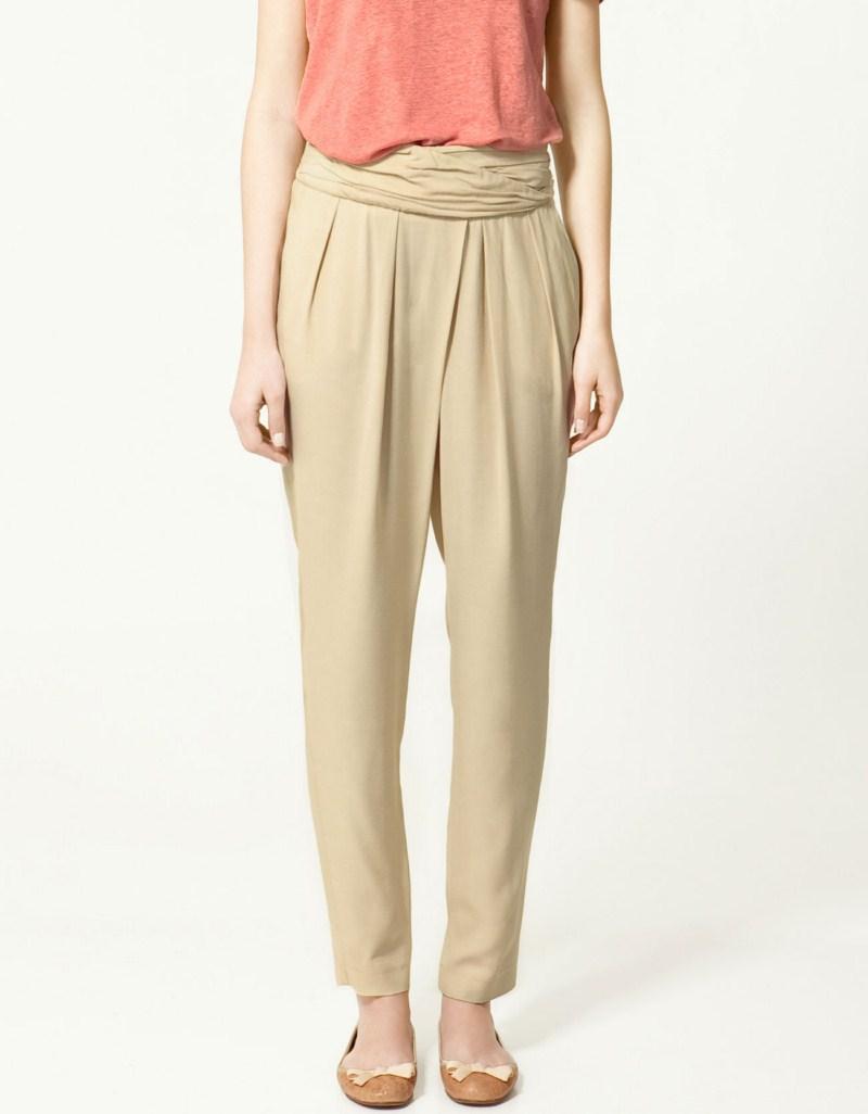 beżowe spodnie ZARA - letnia kolekcja