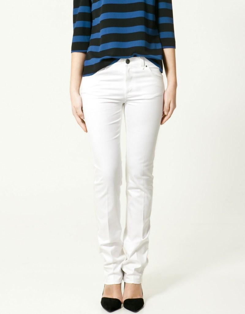 białe spodnie ZARA - moda wiosna/lato