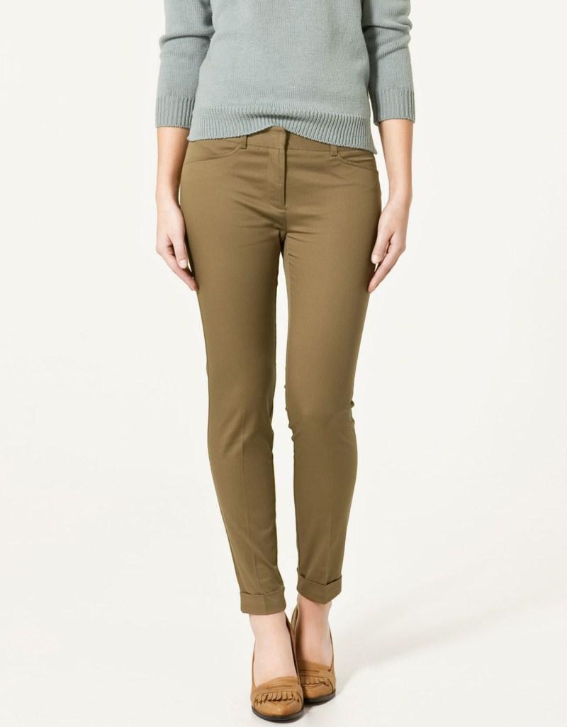 beżowe spodnie ZARA - moda 2011