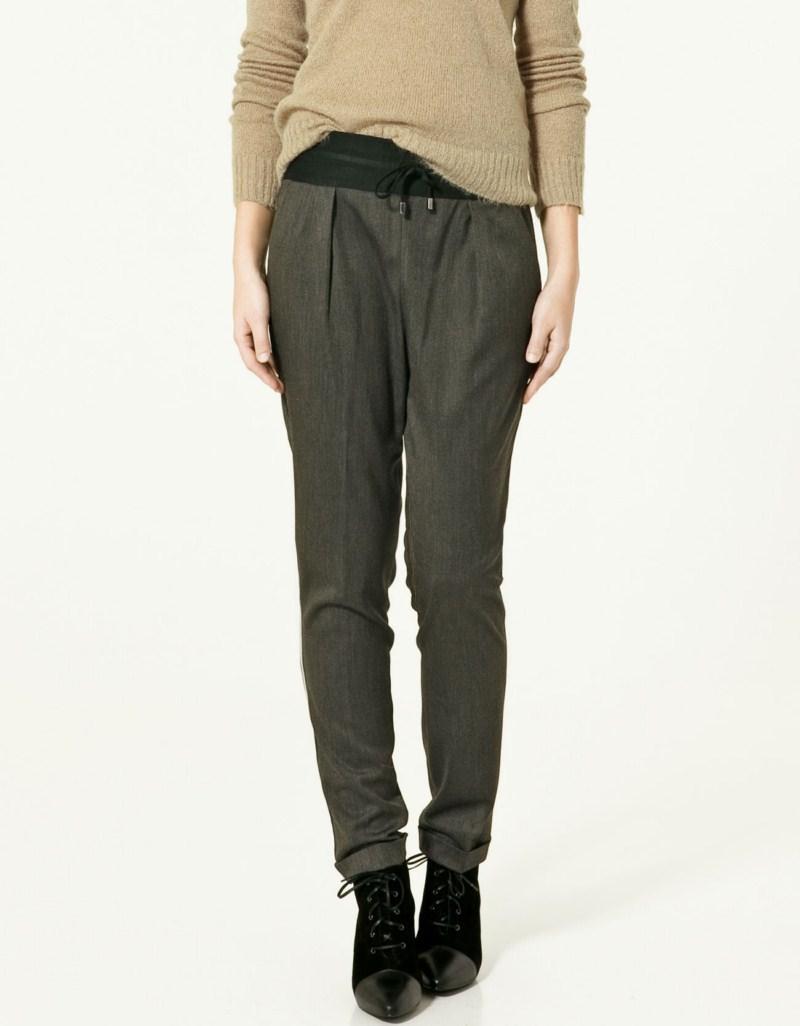 popielate spodnie ZARA - trendy wiosna-lato