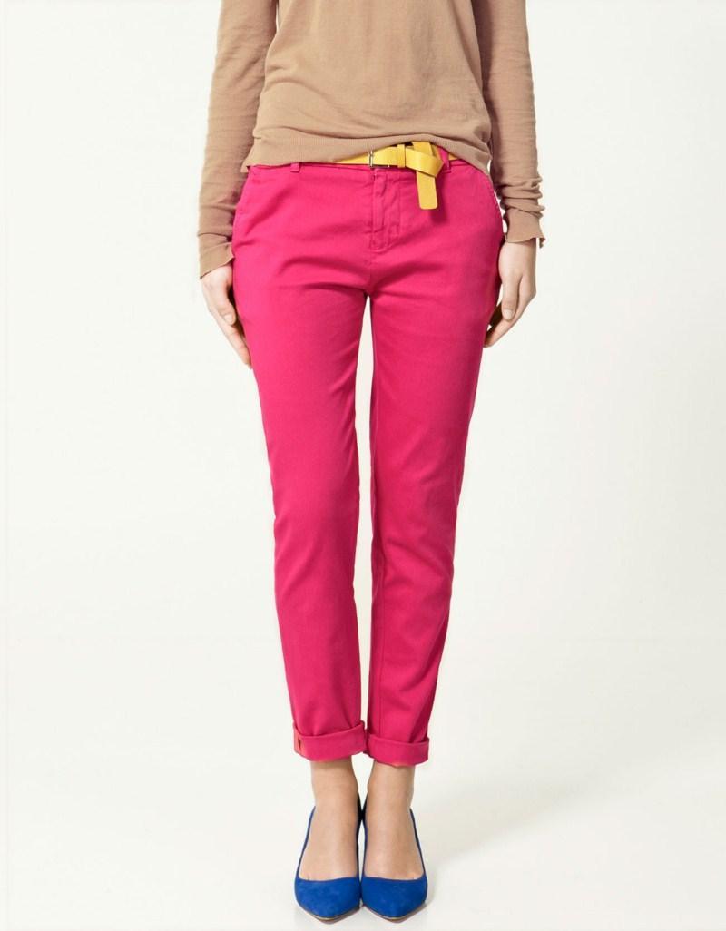 różowe spodnie ZARA - wiosna-lato 2011