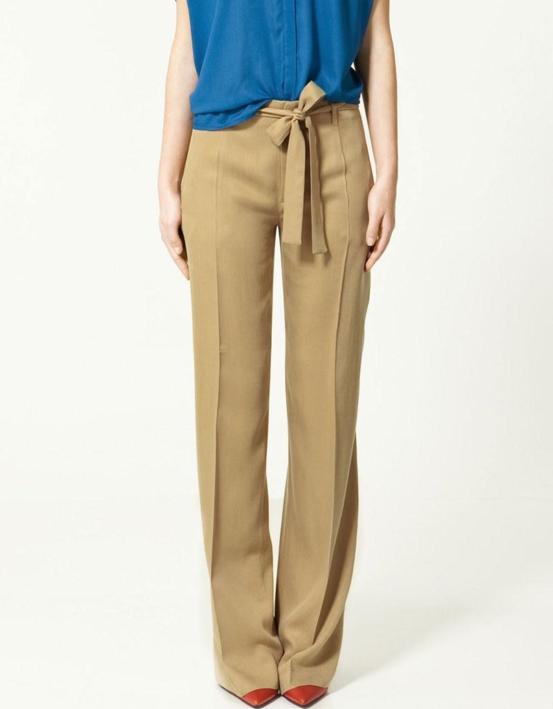 beżowe spodnie ZARA - lato 2011