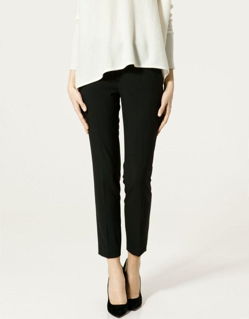 czarne spodnie ZARA - trendy wiosna-lato