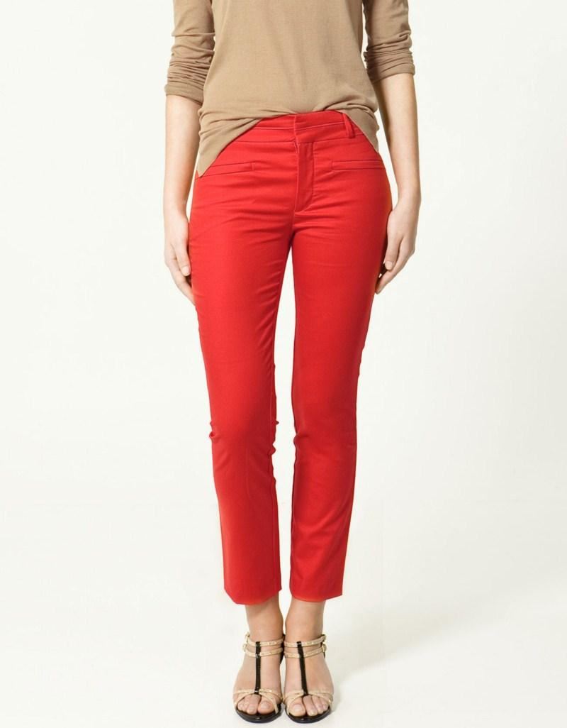 czerwone spodnie ZARA - z kolekcji wiosna-lato 2011