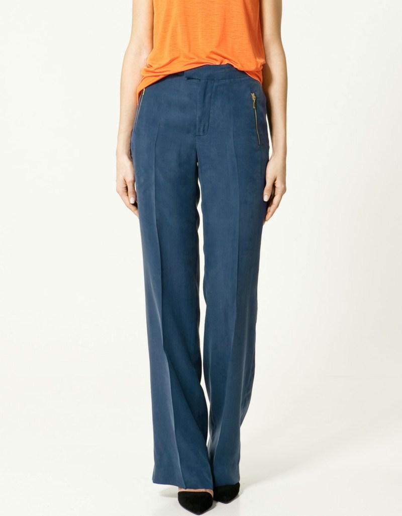 niebieskie spodnie ZARA - kolekcja wiosenna