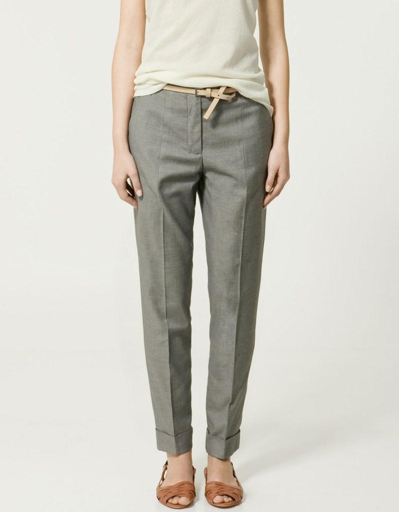 popielate spodnie ZARA - wiosna-lato 2011