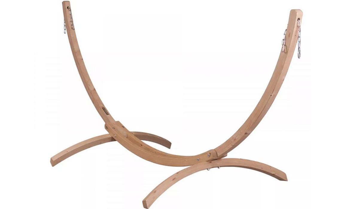stojak na hamak drewniany