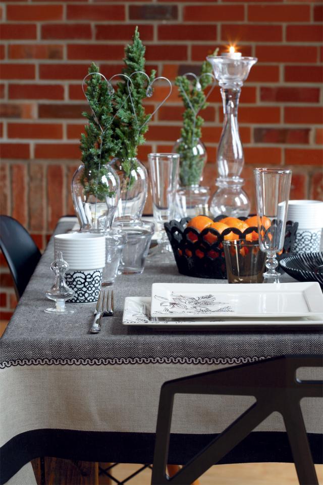 len, dekoracja świątecznego stołu, wnętrzelen, dekoracja świątecznego stołu, wnętrze