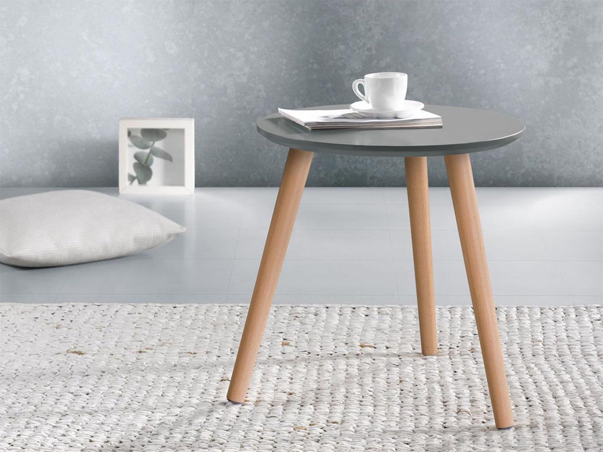stolik drewniany z Lidla
