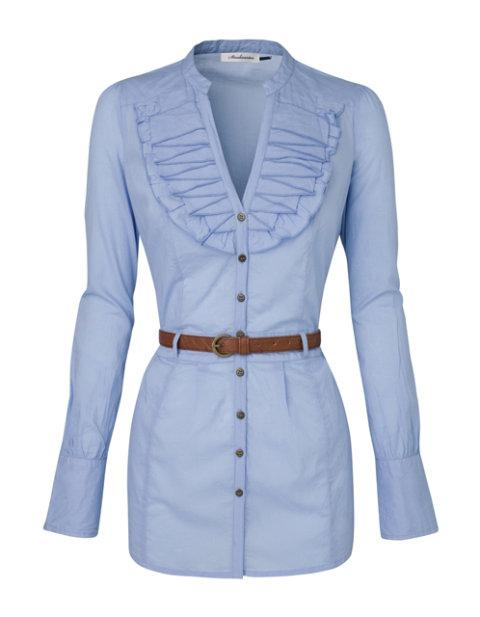 błękitna bluzka Stradivarius - wiosenna kolekcja