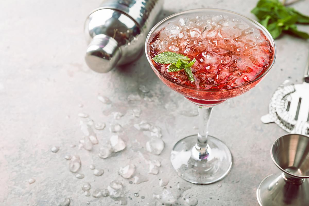 strawberry drink martini
