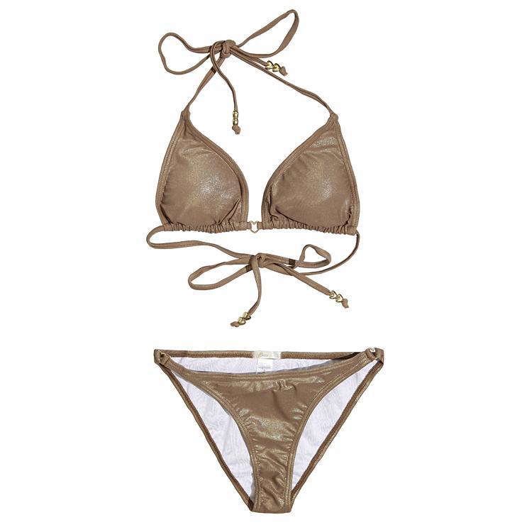 połyskliwe bikini House w kolorze brązowym - moda plażowa 2013