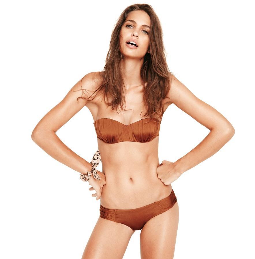 połyskliwe bikini Oysho w kolorze brązowym - lato 2013