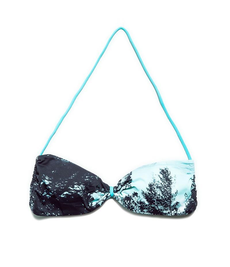 góra bikini ZARA w kolorze błękitnym - stroje kąpielowe 2013