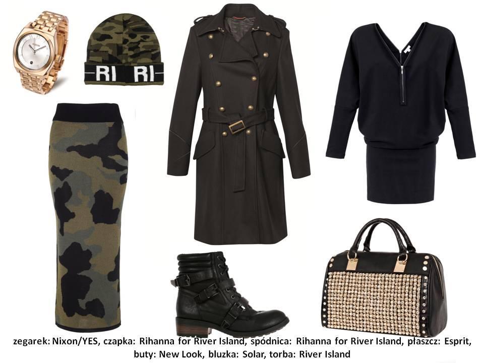 Styl camo - militarny trend w 4 stylizacjach