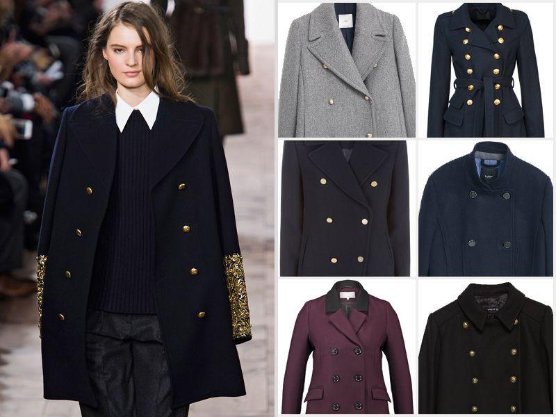 Płaszcz w stylu marynarskim