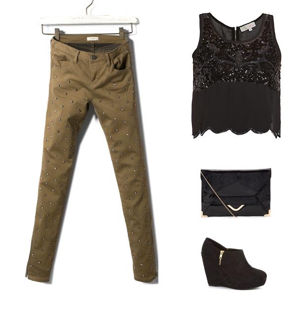 Stylizacje na sylwestra - spodnie w roli głównej