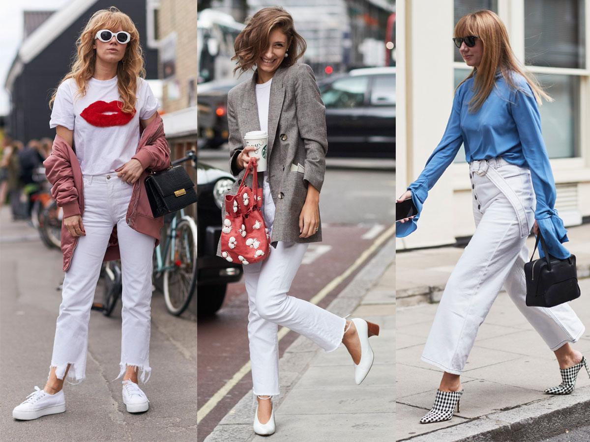 Białe spodnie: dla kogo i do czego. Porady i pomysły na