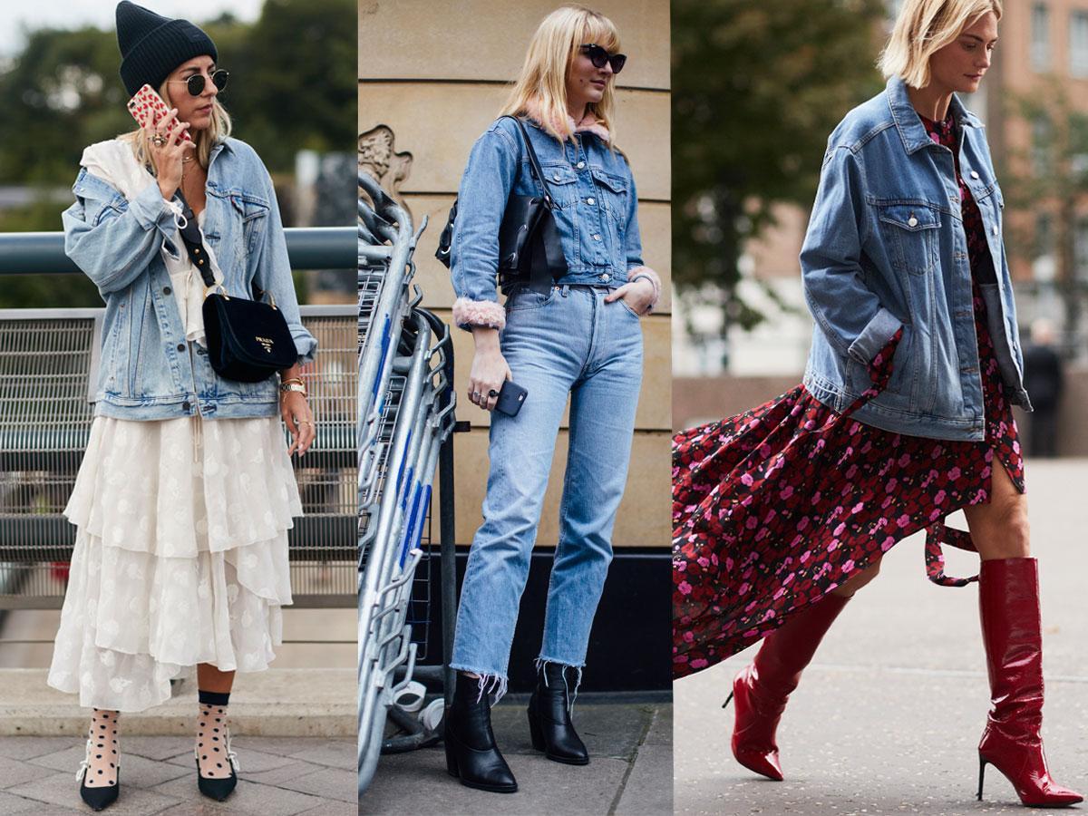 Stylizacje z kurtką dżinsową - inspiracje