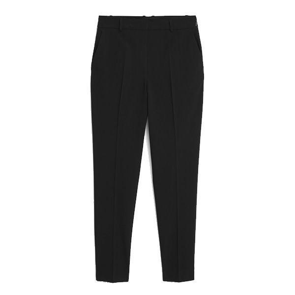 Czarne spodnie w kant Mango, cena