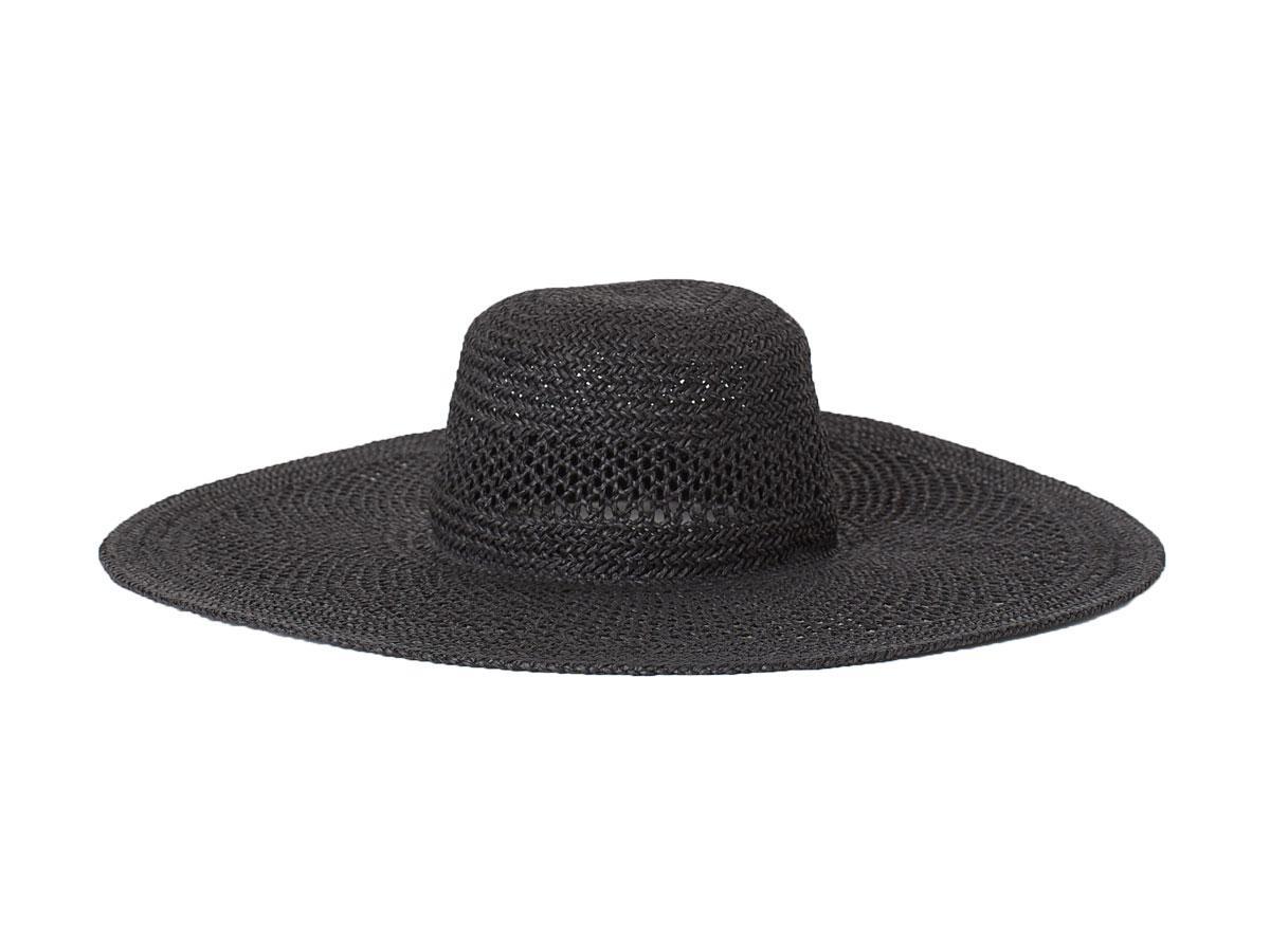 Czarny kapelusz słomkowy H&M