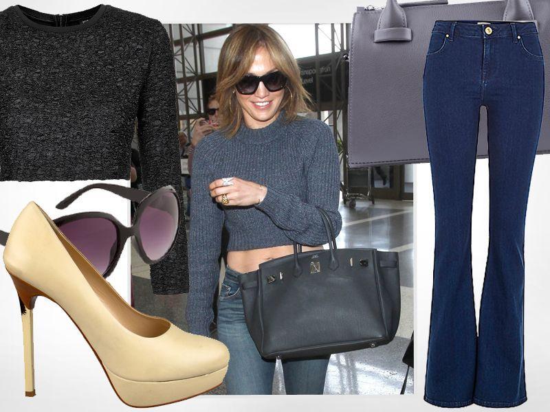 Jennifer Lopez w dżinsowych dzwonach
