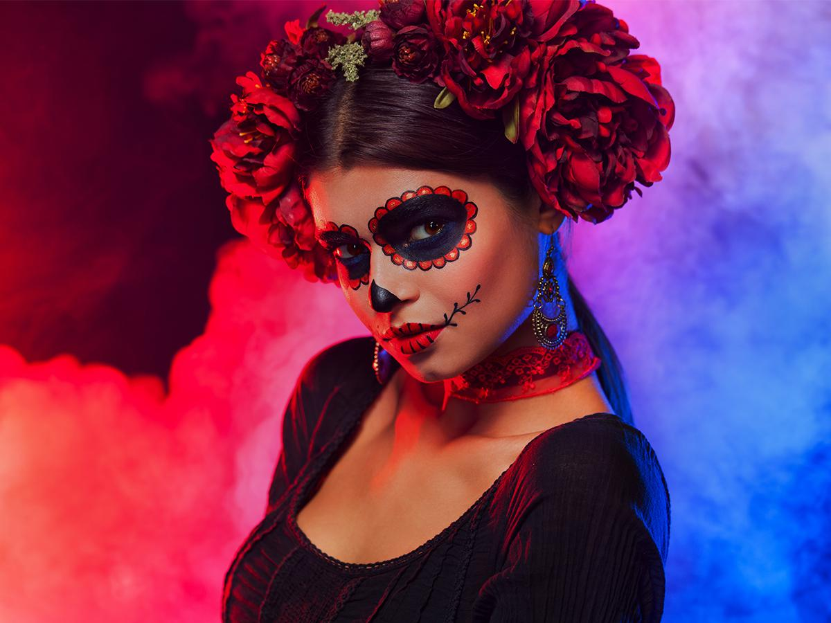 Sugar skull make up krok po kroku