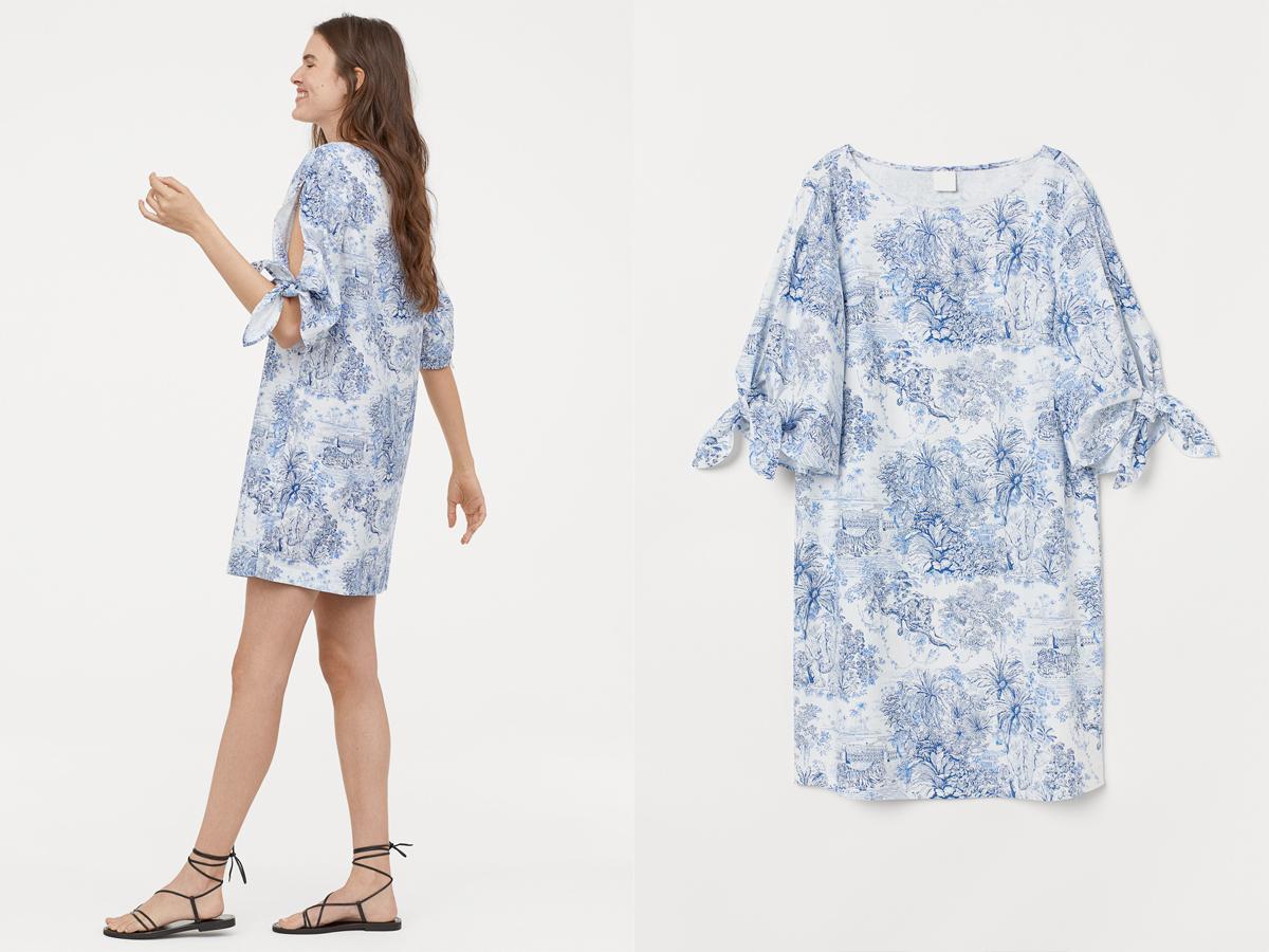Sukienka H&M w kwiaty, 79,90 zł