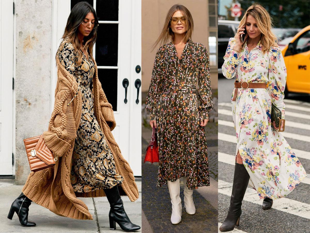 Stylizacje z sukienką maxi - inspiracje