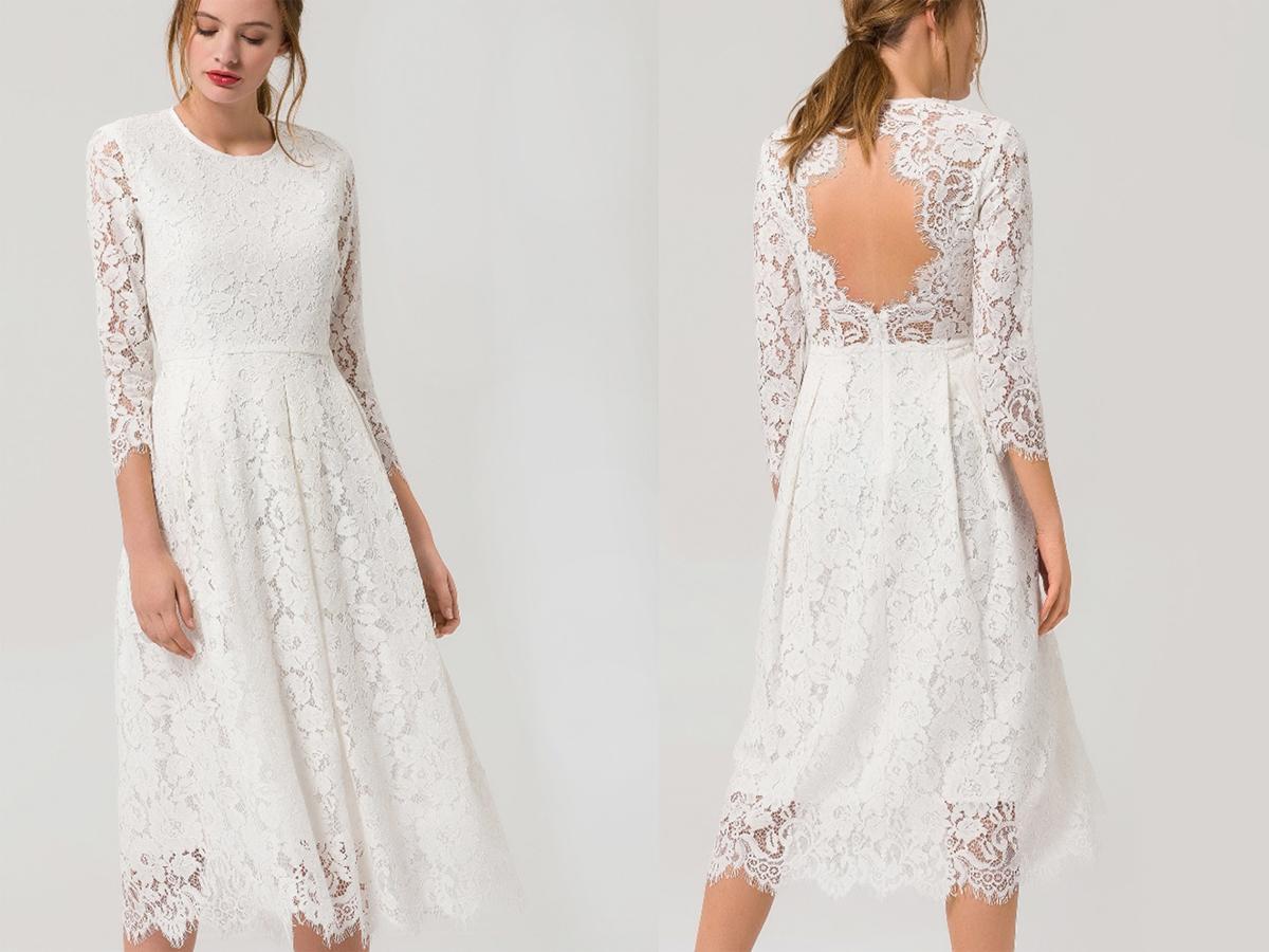 Suknia ślubna na ślub cywilny koronkowa