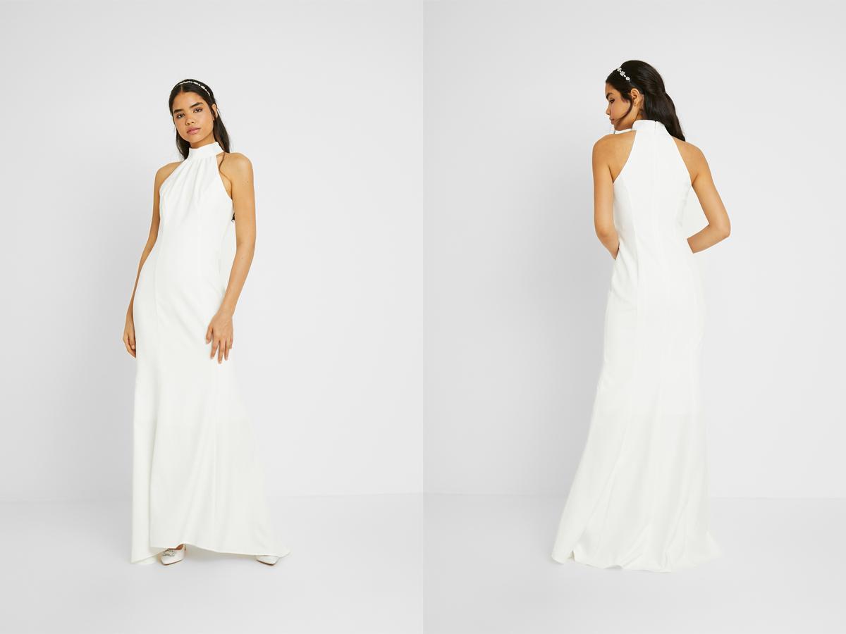 Suknia ślubna na ślub cywilny z wiązaniem
